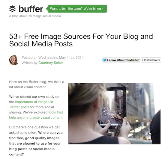 Design Resources: Buffer's roundup post