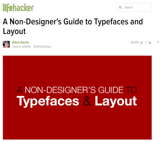 Design Resources: A Non-Designer's guide to Typefaces and Layout