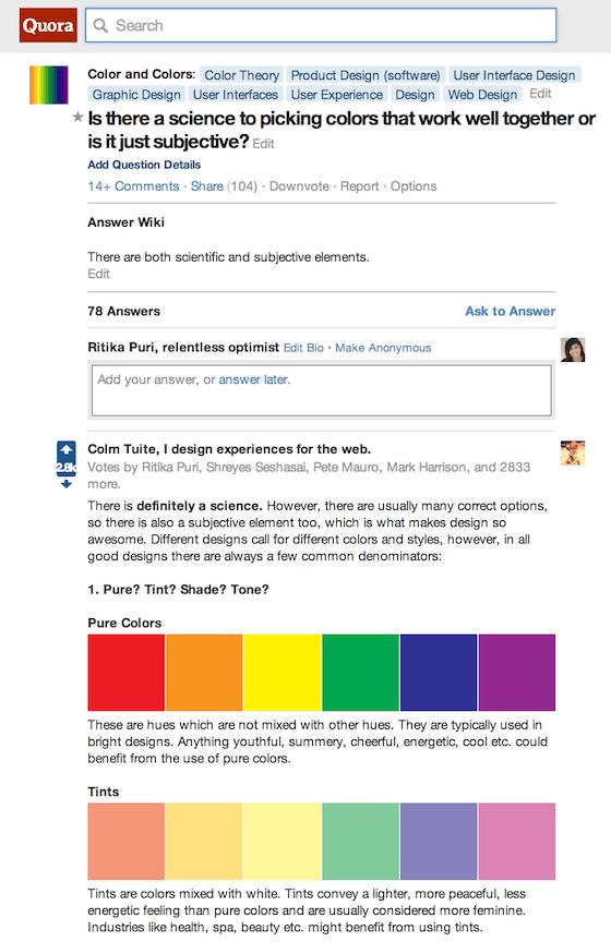 Design Resources: Quora thread