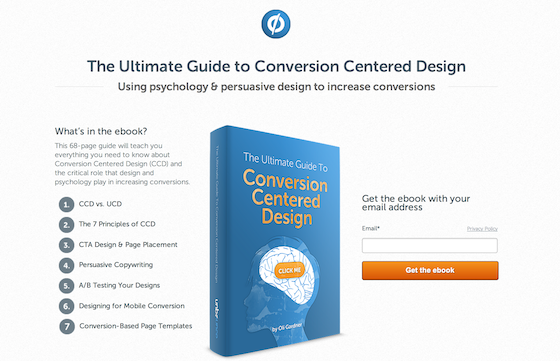 Design Resources: Unbounce's Guide to Conversion Centered Design