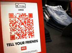 Diesel QR code sign: I Like Larkee