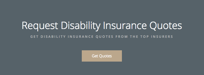 "Hard sale: ""Request Disability Insurance Quotes"""