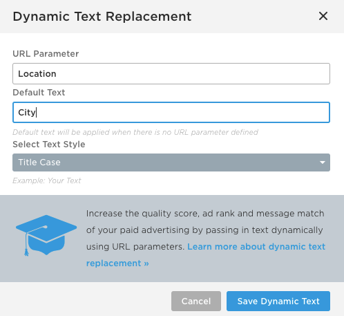 Dynamic Text Replacement