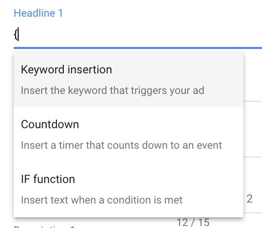 Dynamic Ad Features in Google Ads