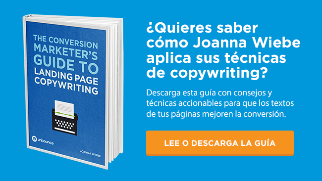 guia de copywriting para convertir más en landing pages