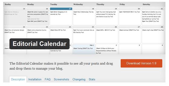 Editorial Calendar WP