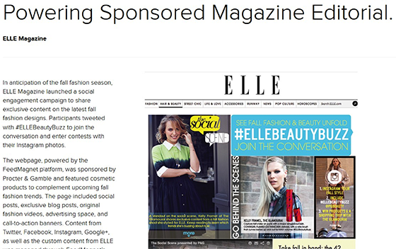 Native Advertisements: Elle Magazine example