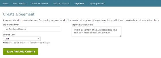 email list segment
