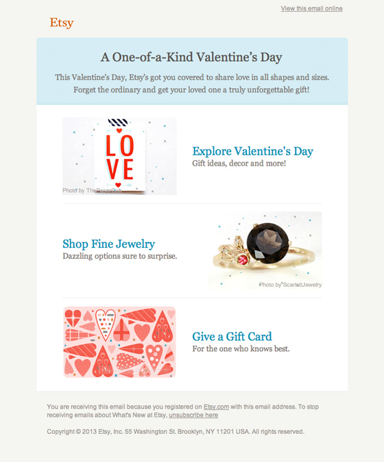 Email Marketing: Etsy Example