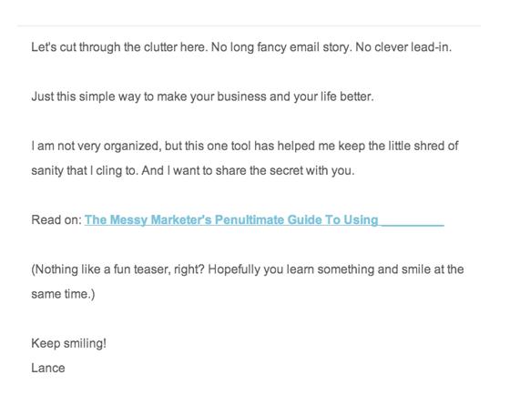 E-Mail-Klickraten: Eine HTML-E-Mail im Plaintext-Stil
