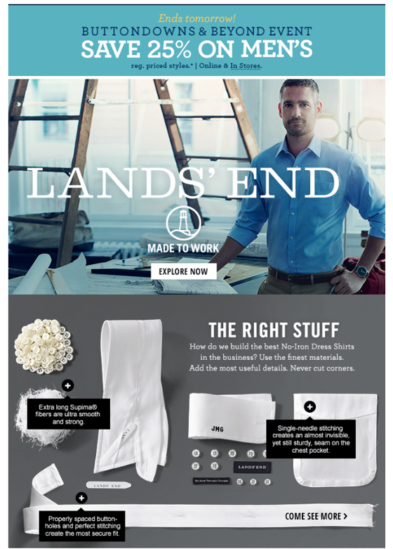 Email Marketing: Landsend Example