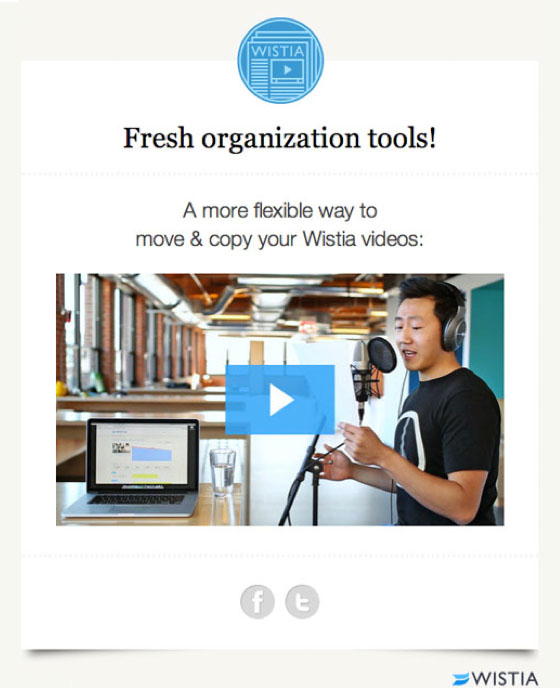 Email Marketing: Wistia Example