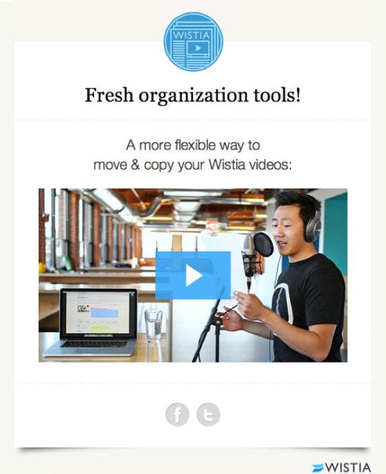 E-Mail-Klickraten: Beispiel von Wistia