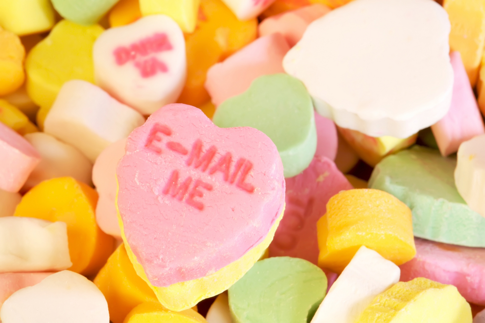 e-mail me candy hearts