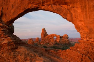 The arch forces you to pay attention to the view inside it