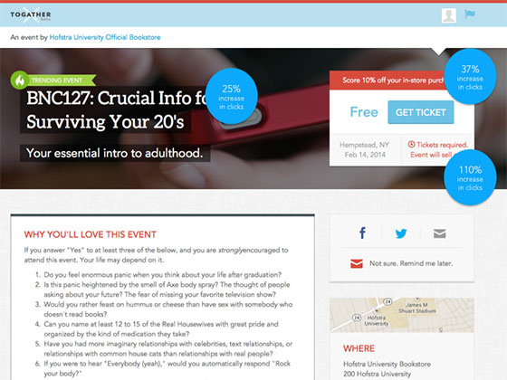 Event Marketing - Landing Page