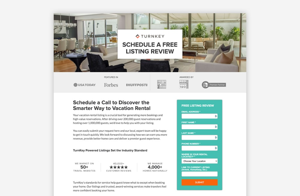 Real Estate Landing Page Examples - TurnKey