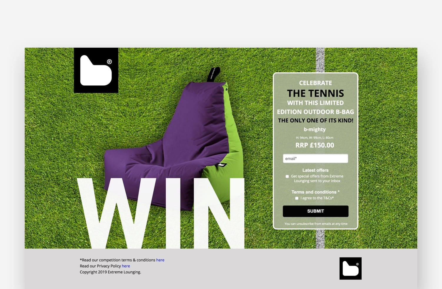 High-Converting Landing Page: Extreme Lounging