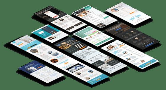landing page template design