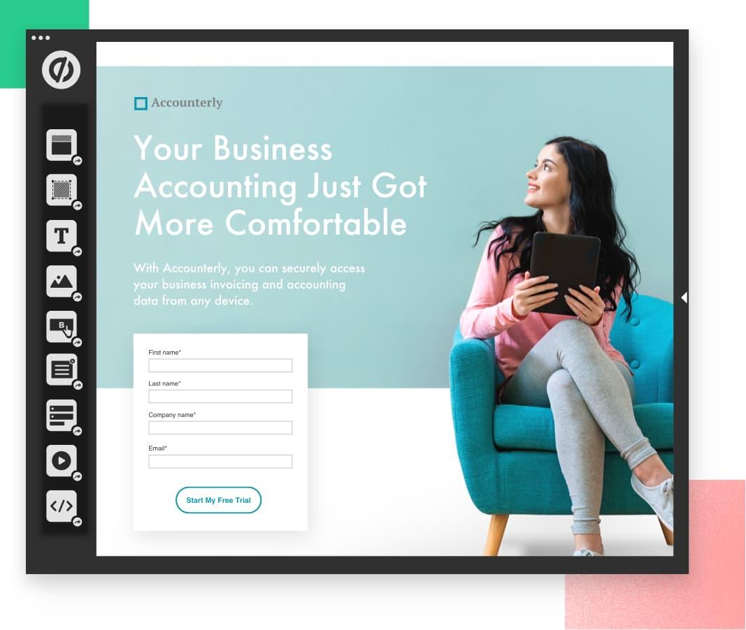 725529a93 Unbounce Features - Build, Customize, Convert, Optimize