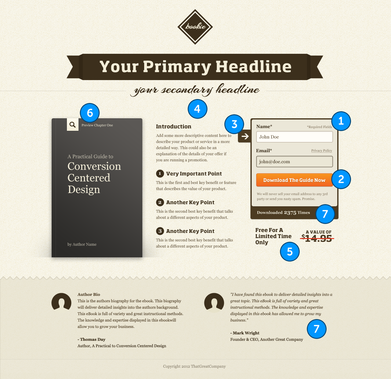 The Template: After Landing Page Optimization  Point Of Contact Template