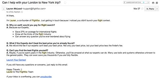 flightfox email