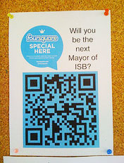 ISB 'Foursquare Special Here' check-in via QR code