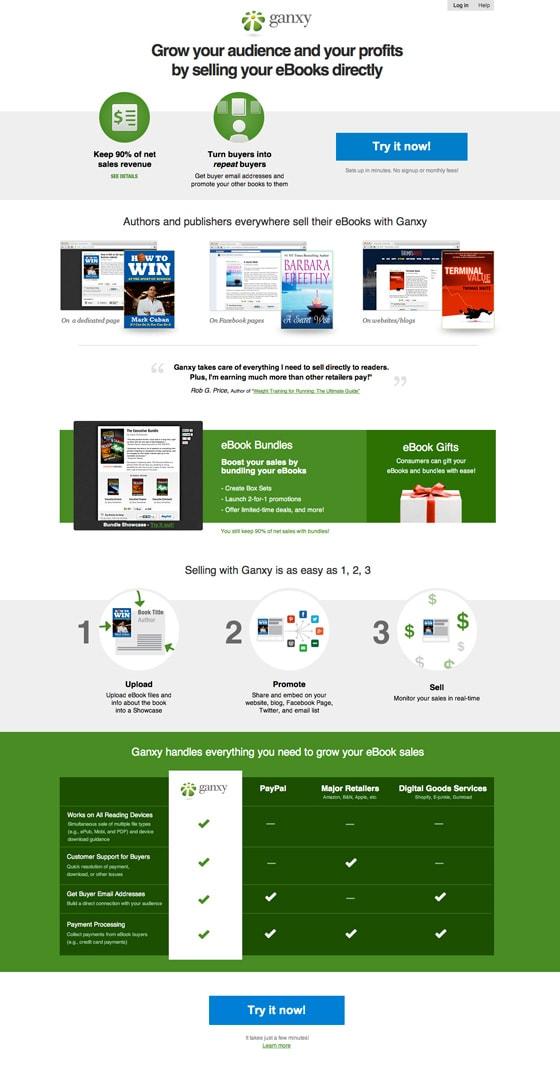 ebook sales landing page