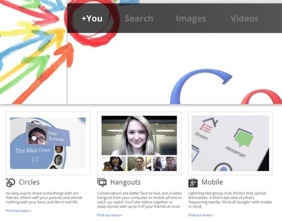 Google Plus Homepage