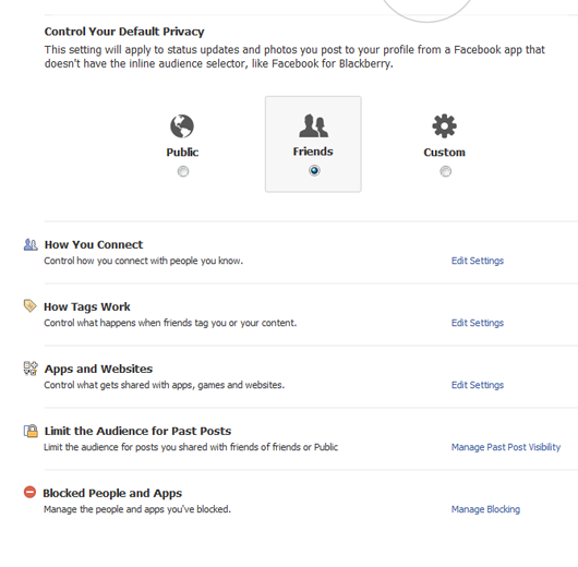 Google Plus Privacy Settings