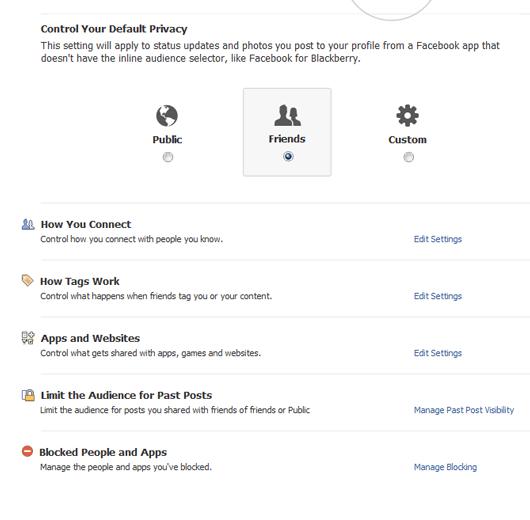 Google Plus Privacy Settings