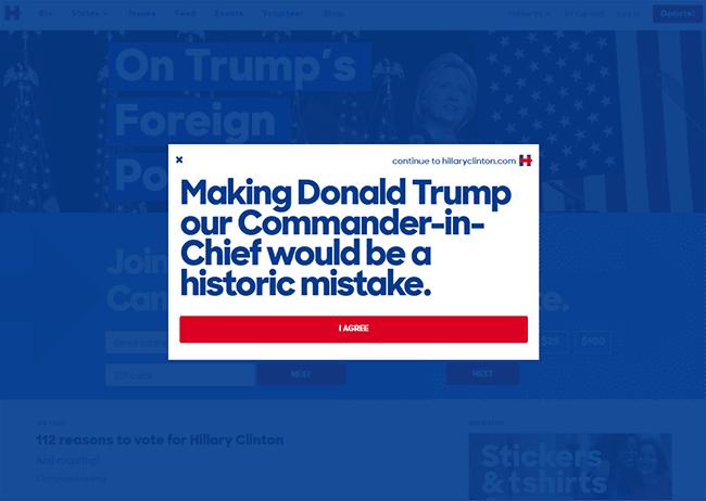hilary-clinton-pop-ups-presidential-marketing-campaign