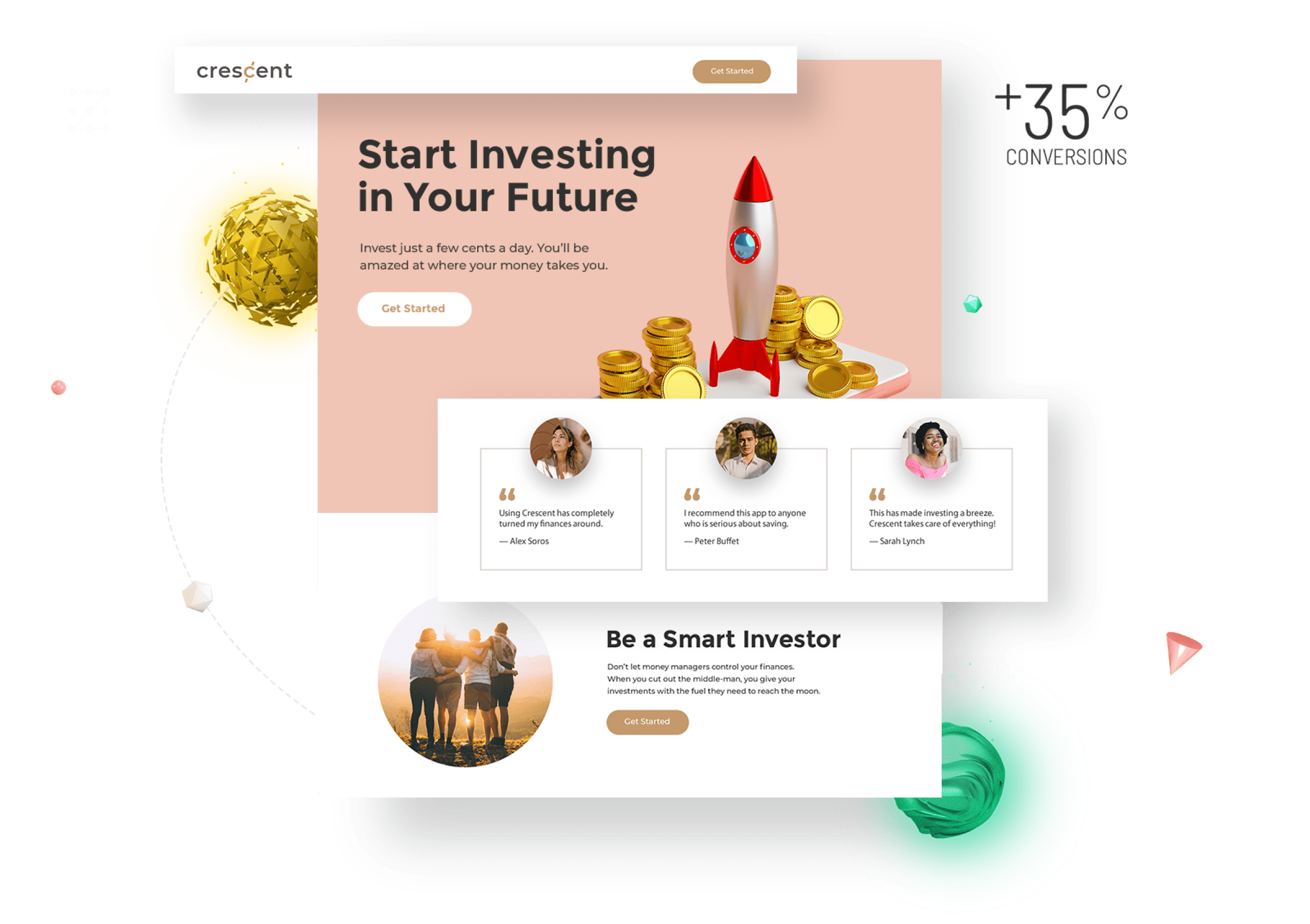 Example landing page image