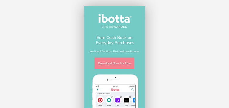 App landing pages: Ibotta