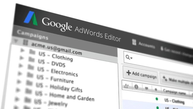editor de google adwords herramienta basica
