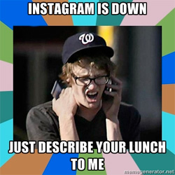 instagram status update