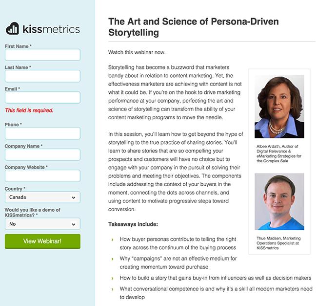 kissmetrics-webinar-landing-page