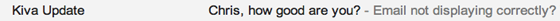 kiva email subject line