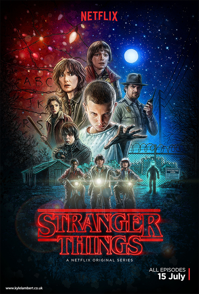 Stranger Things poster made on ipad