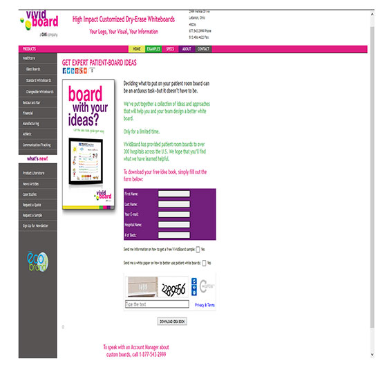 Landing Page Conversions - BEFORE