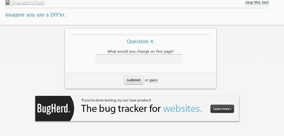 Landing Page Testing with FiveSecondTest