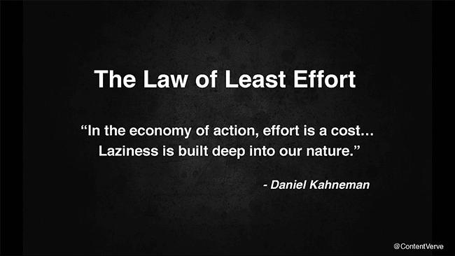law-of-least-effort