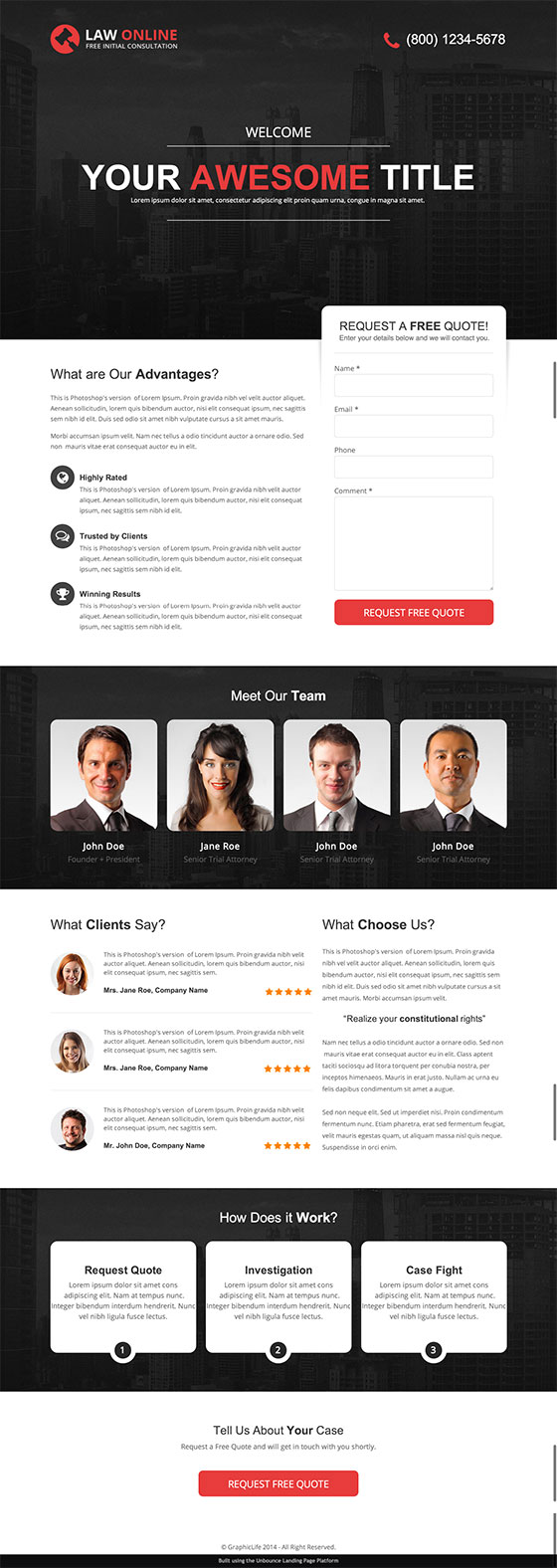 law-online-landing-page