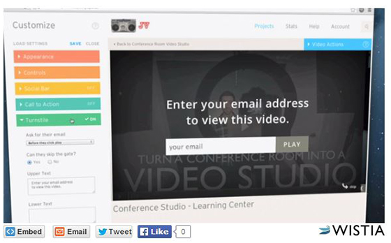 Lead gen examples: Gated video