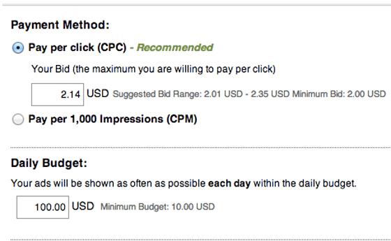 linkedin ad budget