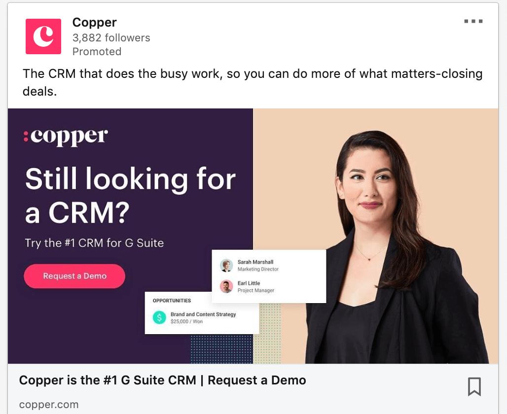 A screenshot of the LinkedIn platform.