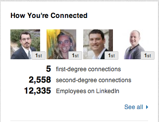 linkedin company connections