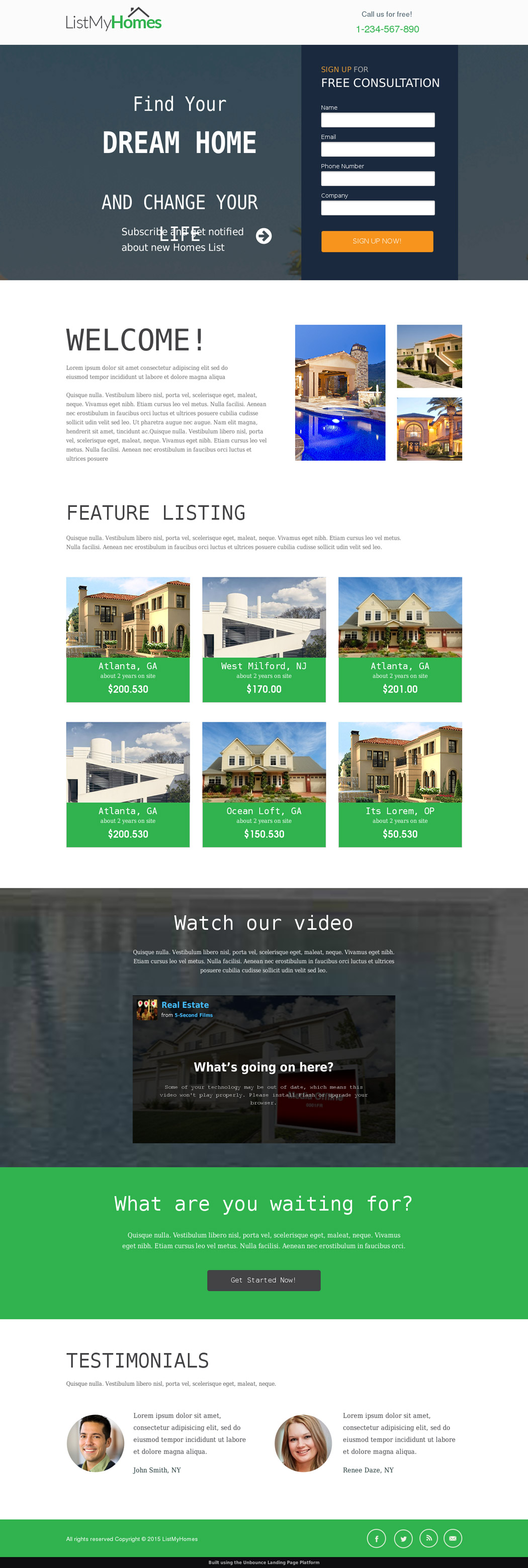 real estate landing page templates for your appraisal homes