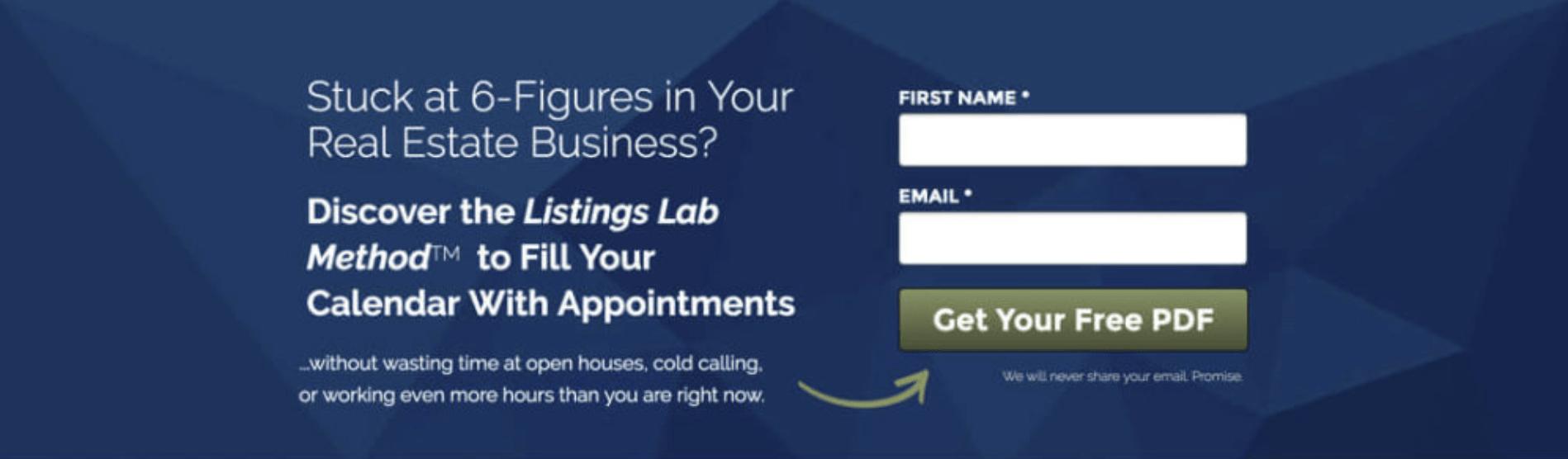 Landing Page Headlines - Listings Lab