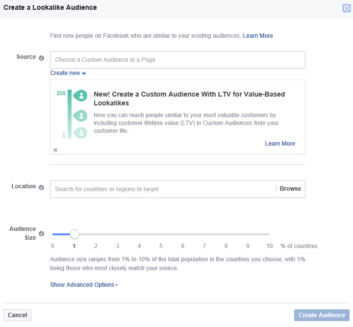 Facebook: Lookalike Audience